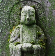 Jizo stone closeup
